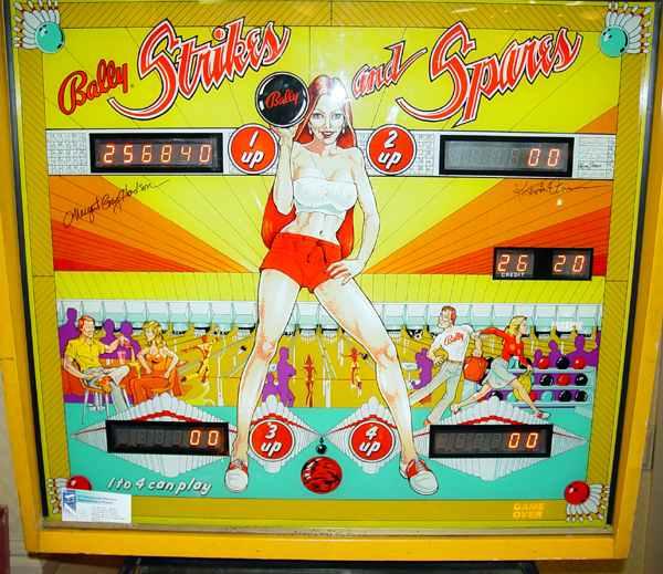 strikes and spares pinball machine